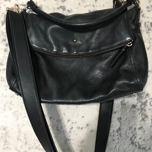 Black Kate Spade leather purse, crossbody